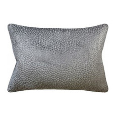 MH Salsa Spot - Piped Pillow - Silver - 14x20
