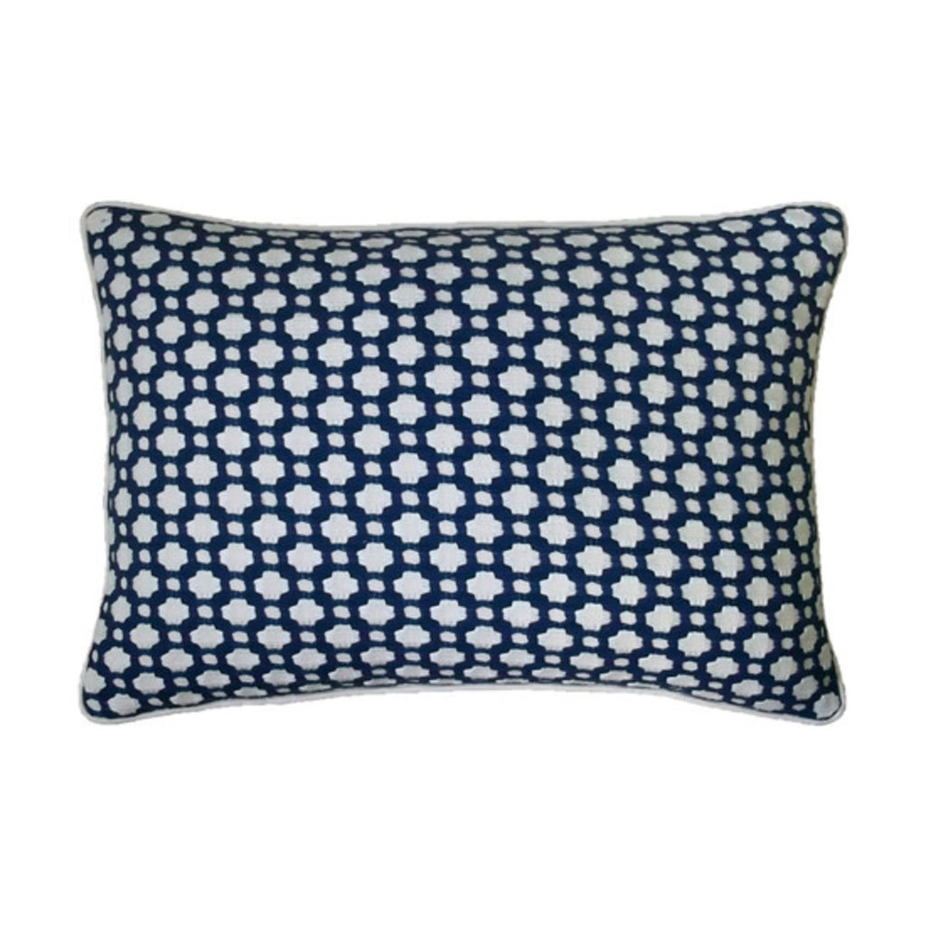 MH Betwixt - Piped Pillow -  Indigo - 14X20
