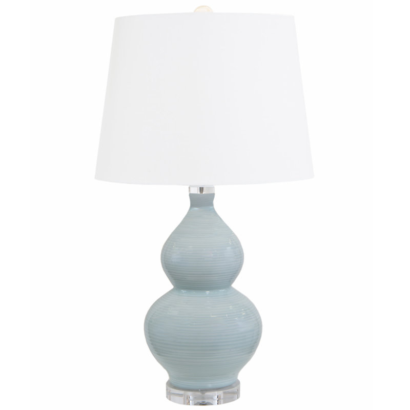 MH Table Lamp - Pale Blue on Acrylic Base