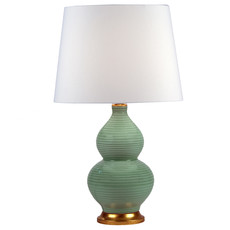 MH Table Lamp - Surf Green/Gold Base