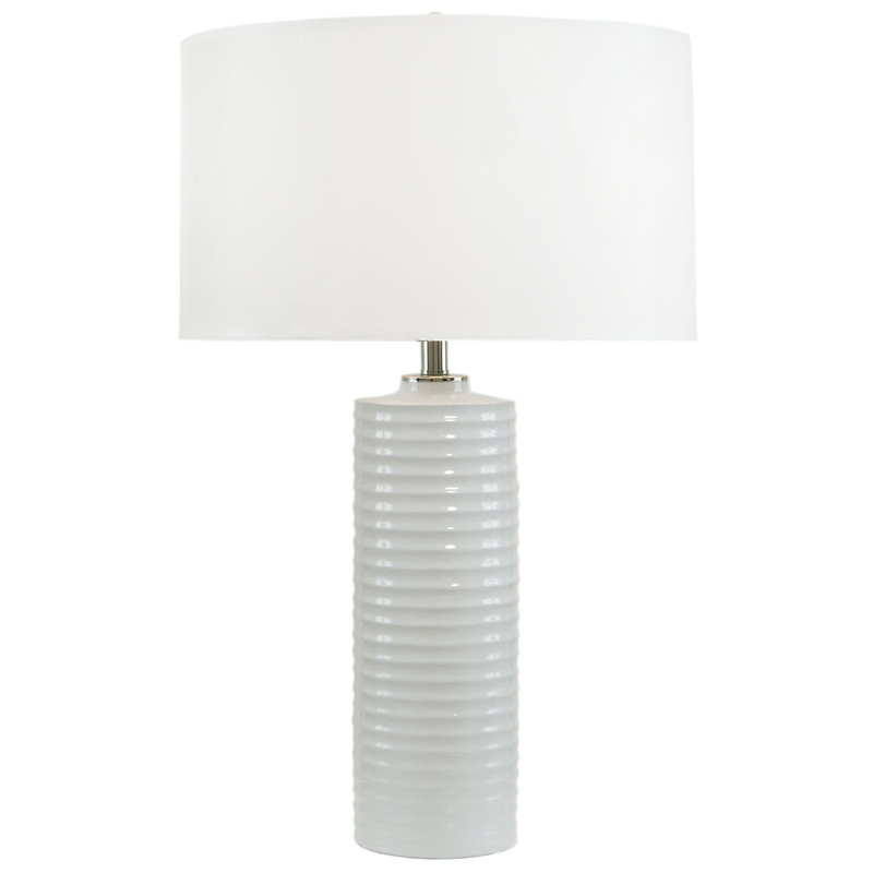 MH Table Lamp - White Ribbed