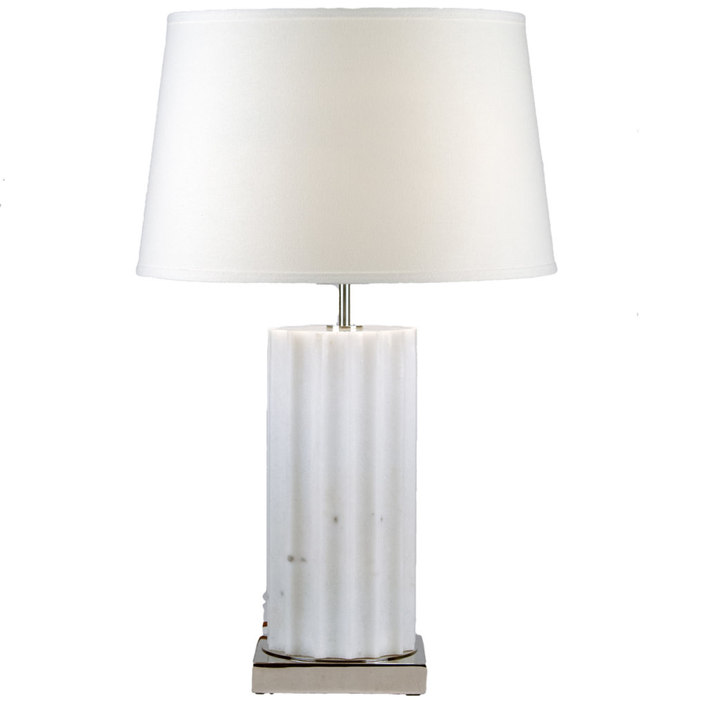 MH Table Lamp -Ribbed Marble Column