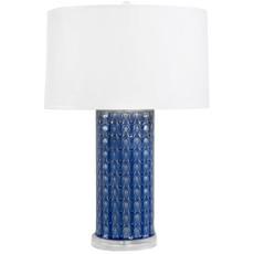 MH Table Lamp - Caribbean Blue on Acrylic Base