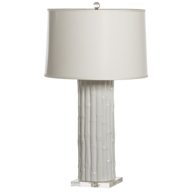 MH Table Lamp - White Bamboo on Acrylic