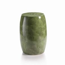 "MH Garden Stool - Ceramic Green Shagreen - 18""x13"""