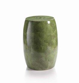 MH Garden Stool - Ceramic Green Shagreen