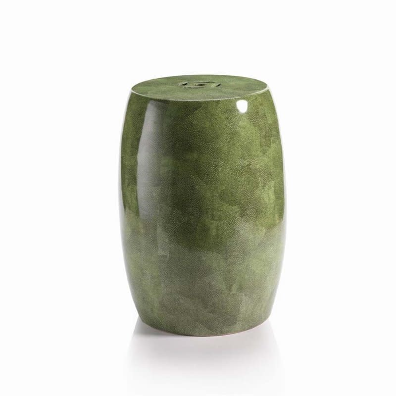 MH Garden Stool - Ceramic Green Shagreen