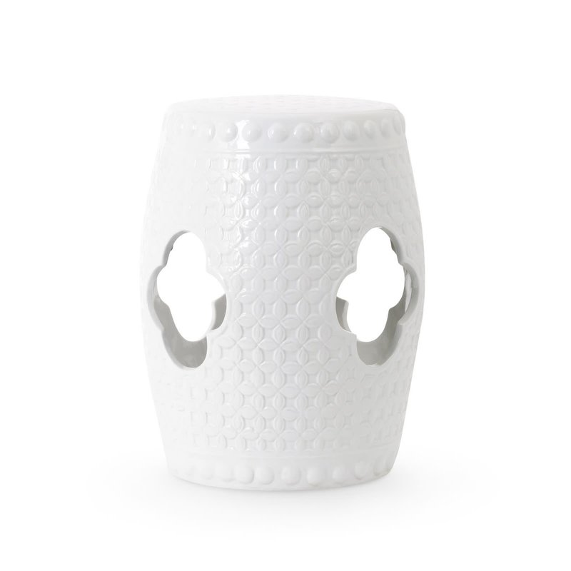 MH Garden Stool - White Clement