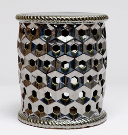 MH Garden Stool - Black Pearl - Ceramic