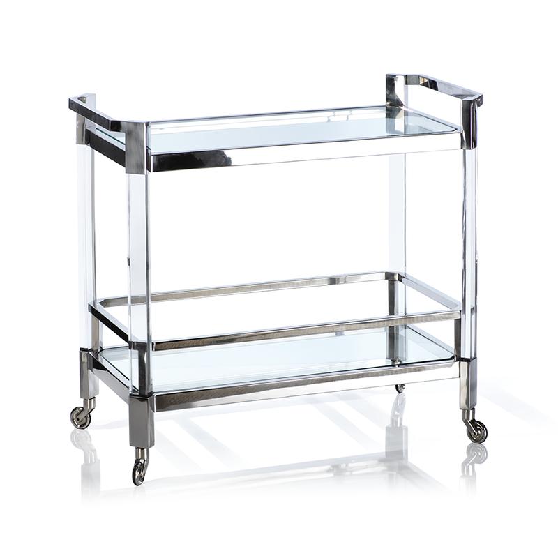 MH Bar Cart - Chrome & Acrylic