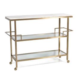 MH Bar Cart -  Marble Top