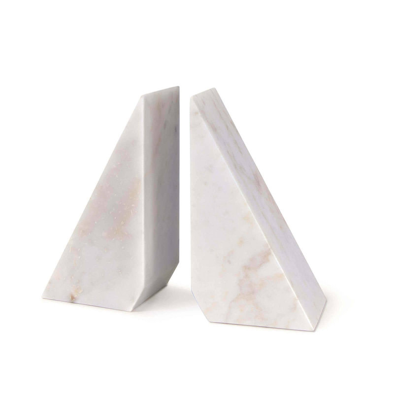 MH Bookends - Othello Marble - White