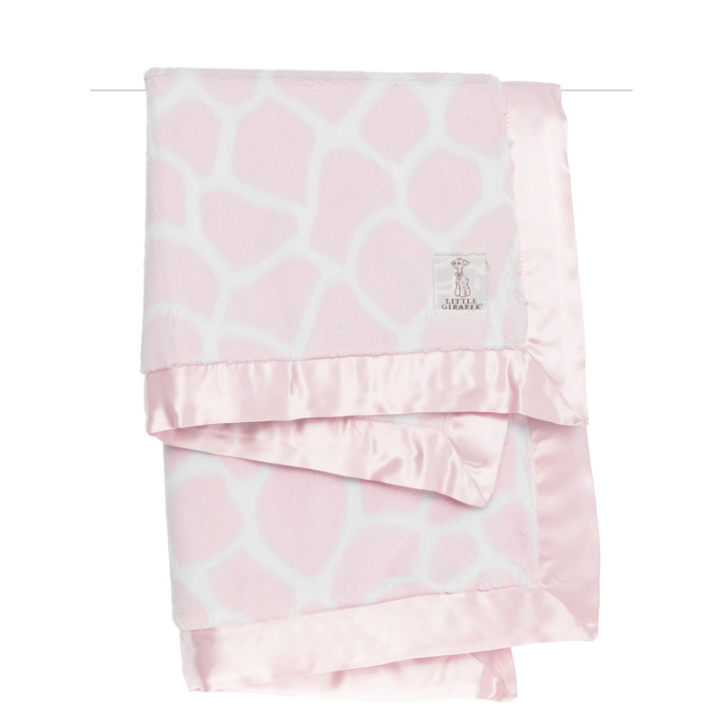 MH Baby Blanket - Luxe Giraffe - Pink
