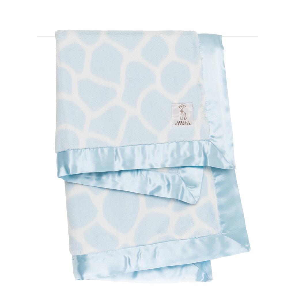 MH Baby Blanket - Luxe Giraffe - Blue