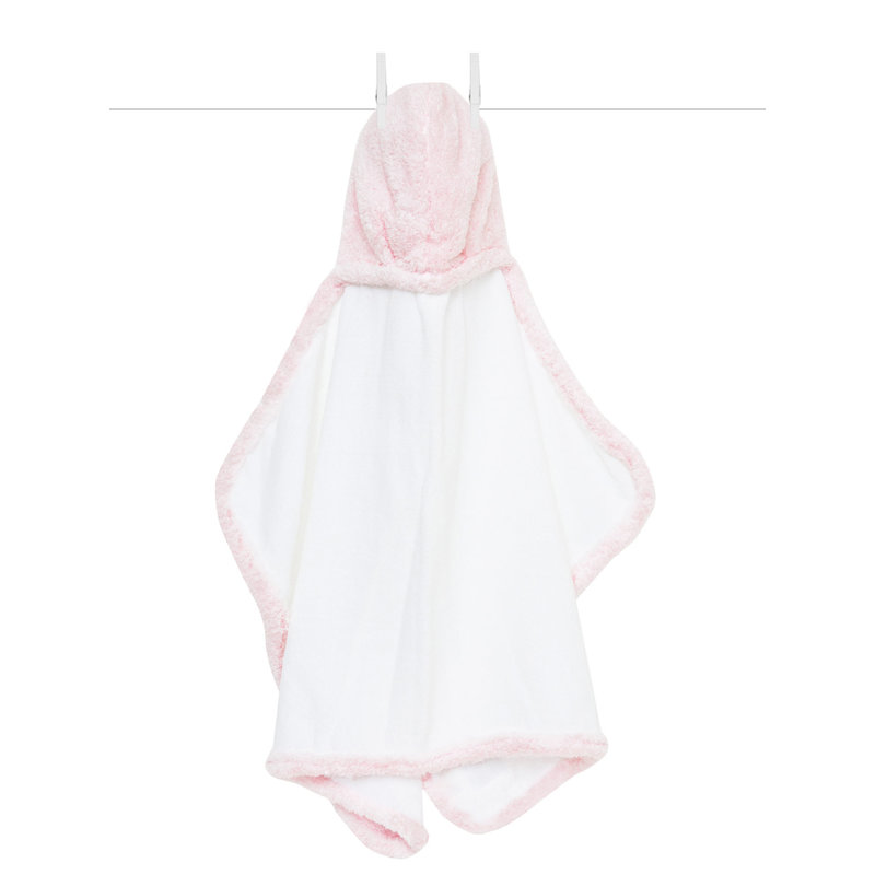 MH Hooded Towel - Chenille - Pink