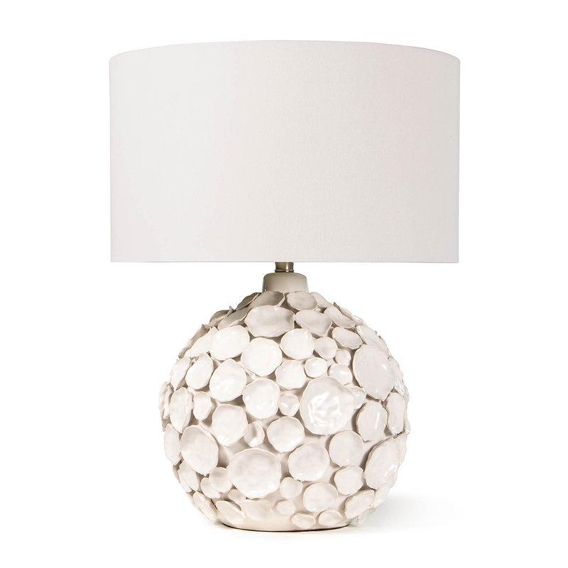 MH Table Lamp - Lucia Ceramic - White  - 26H x 19D