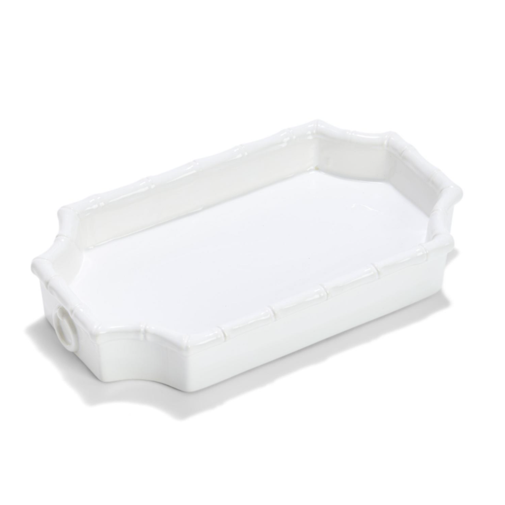 MH Tray - Faux Bamboo - White - Small