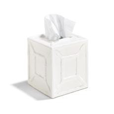 MH Tissue Holder - Faux Bamboo - White