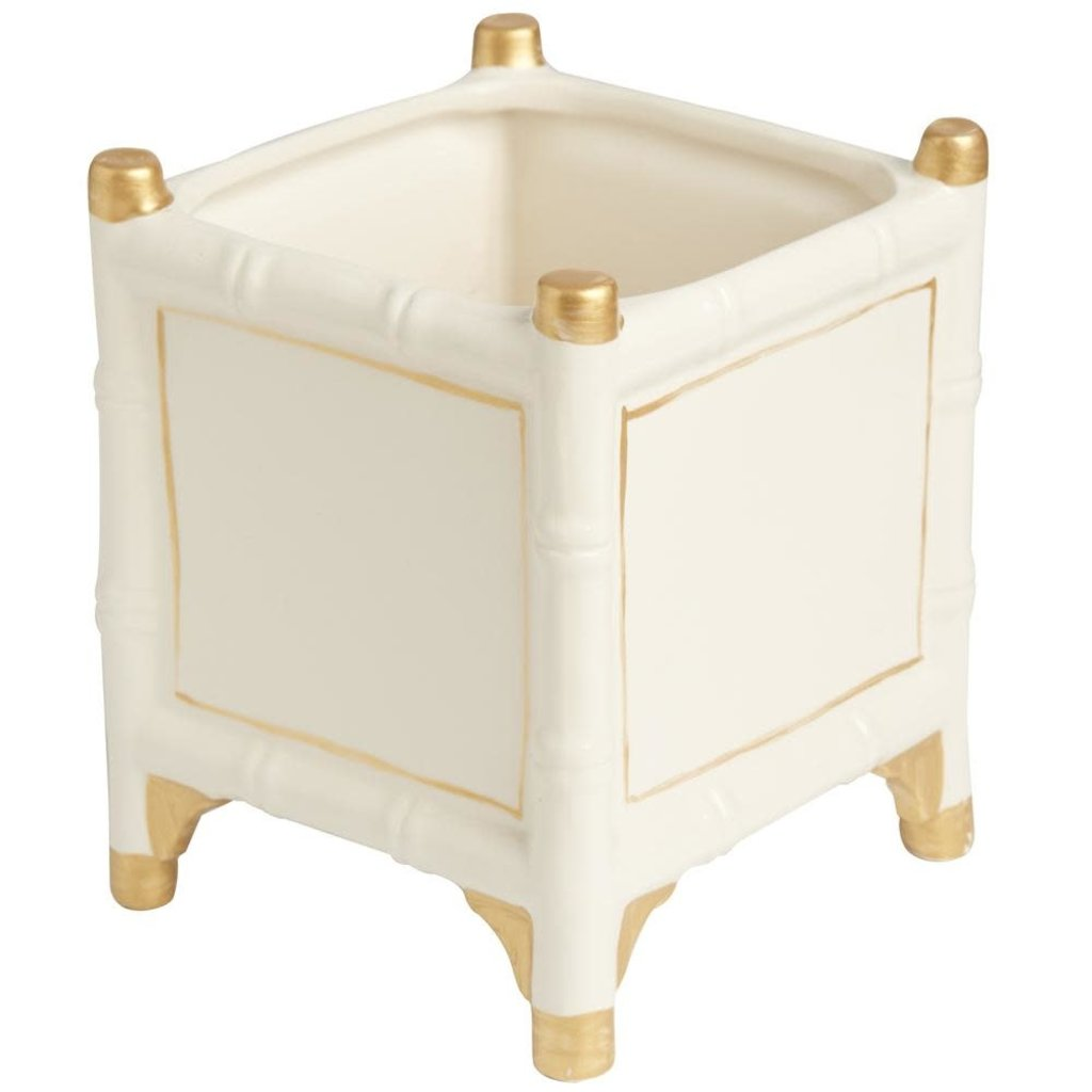 MH Cachepot - Bamboo - Gold Accents - 2 Sizes