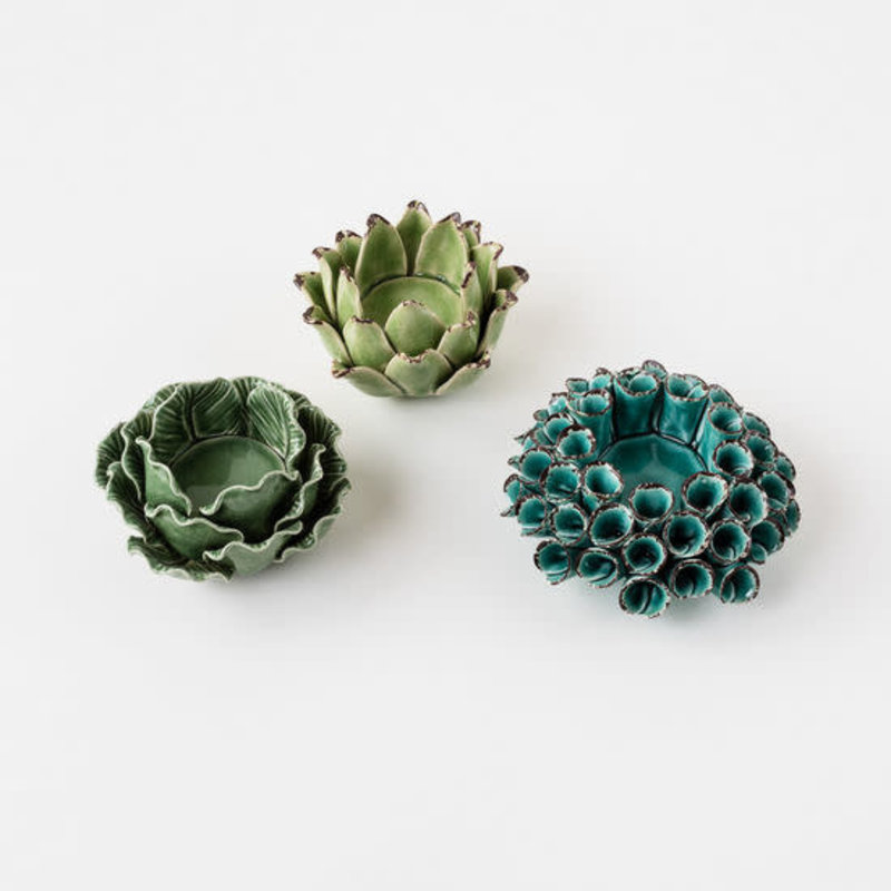 MH Tealight Holder - Organic Floral - Three Styles