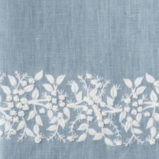 MH Hand Towel - Jardin - White on Blue Sky - Linen