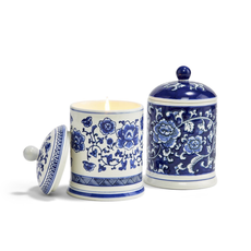 MH Candle - Blue & White - Assorted Designs