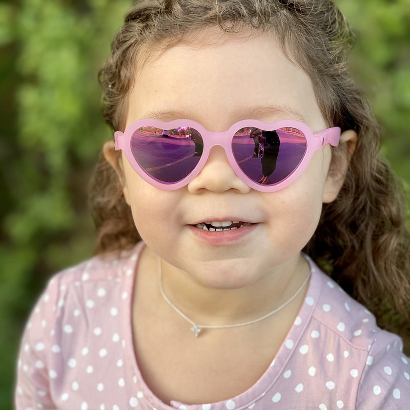 Sunglasses - Kids - The Influencer Heart Shaped- Polarized/Mirrored - 3-5 Years