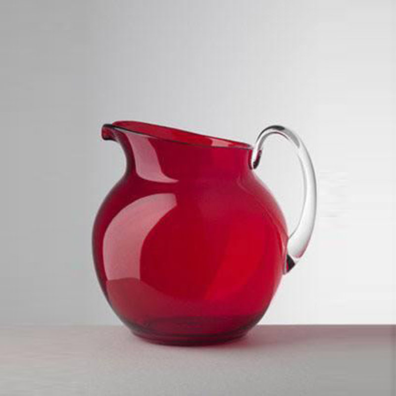 MH Pitcher - Synthetic Crystal - Palla - Transparent - Red