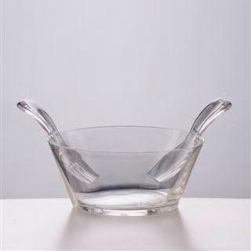 MH Salad Bowl w/Servers - Synthetic Crystal - Clear
