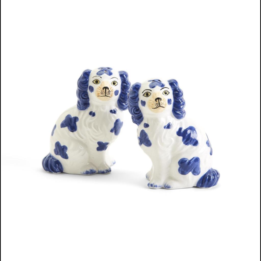 MH Salt & Pepper - Blue & White - Staffordshire Dogs
