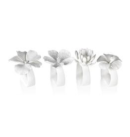 MH Napkin Rings - Bone China Flower - Each