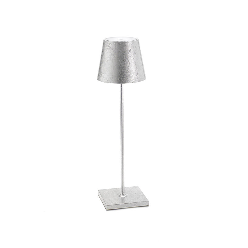 "MH Lamp - Poldina Pro Metallic  - 15""- Outdoor - Rechargeable  - Silver"