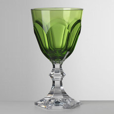 MH Drinkware - Synthetic Crystal - Dolce Vita Green Water Goblet