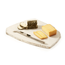 MH Cheese Plate - Marble with Silver Trim and Knife