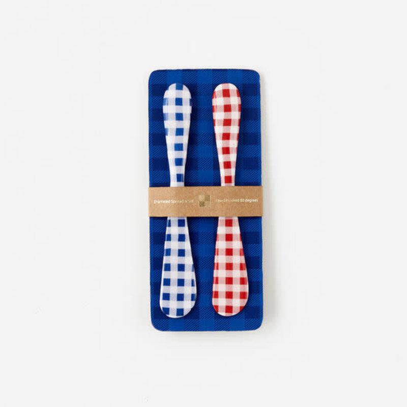 MH Spreader - Red & Blue Gingham - Set of 2