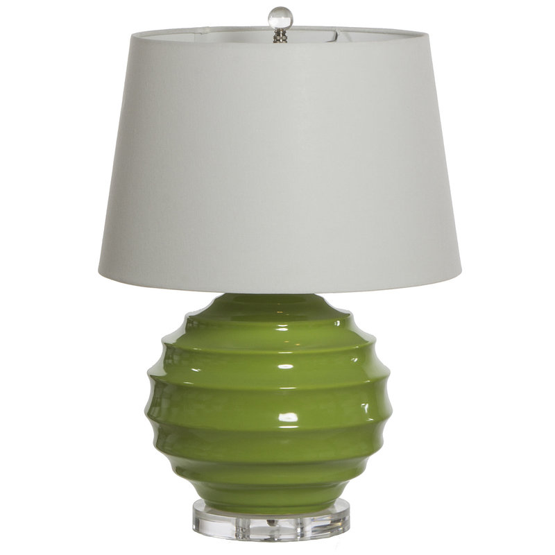 """MH Table Lamp - Lucy - Green - Base:  12""""x12""""x24- Shade: 13""""x16""""x10.5"""""""