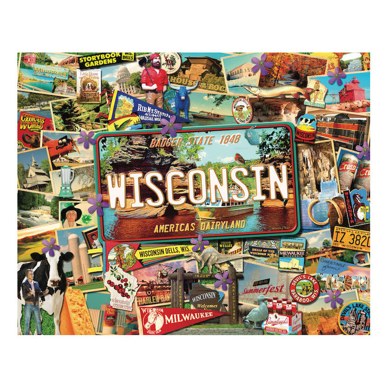 MH Puzzle - Travel the USA - Wisconsin - 1000 Pieces