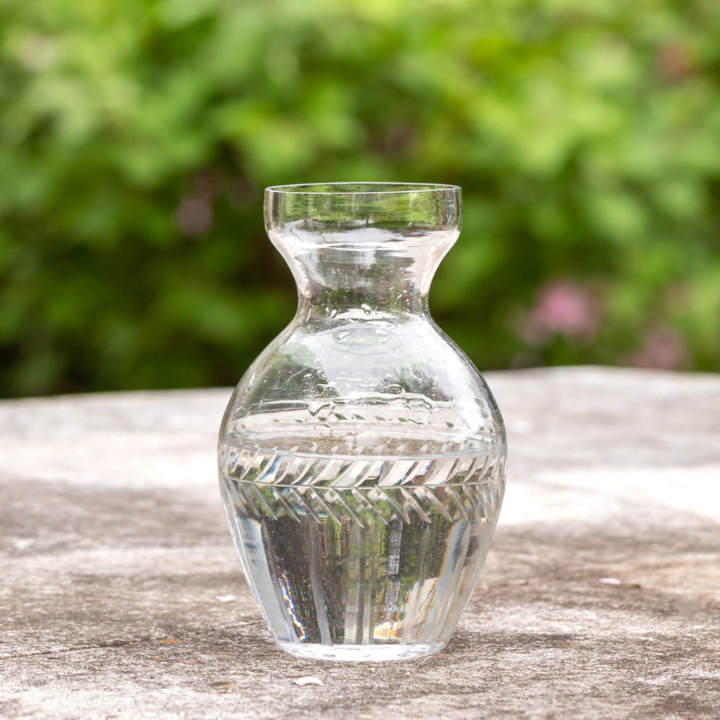 MH Vase  - Etched Glass - Hyacinth