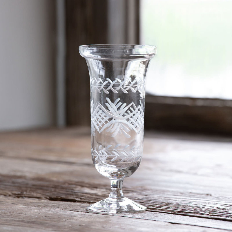 MH Vase  - Etched Glass - Fluted