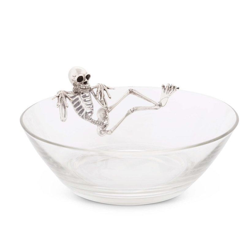 MH Candy Dish - Skeleton - Pewter & Glass