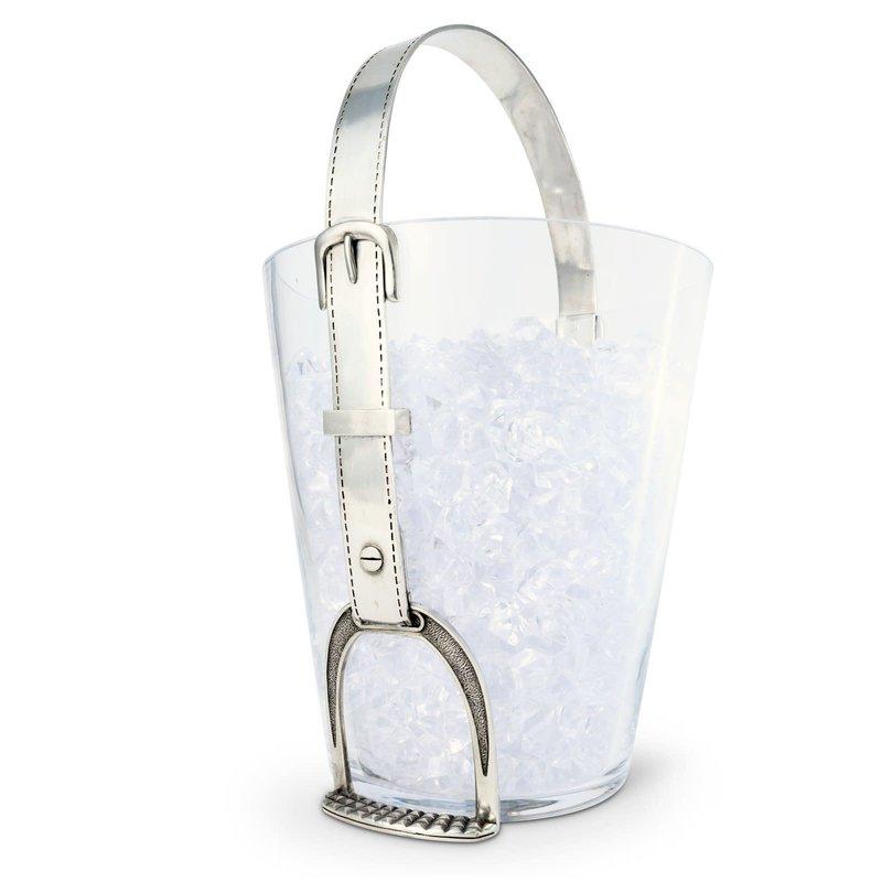 MH Ice Bucket - Stirrup - Glass & Pewter