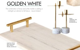 NS Magazine Golden White: Featuring our marble and brass tray
