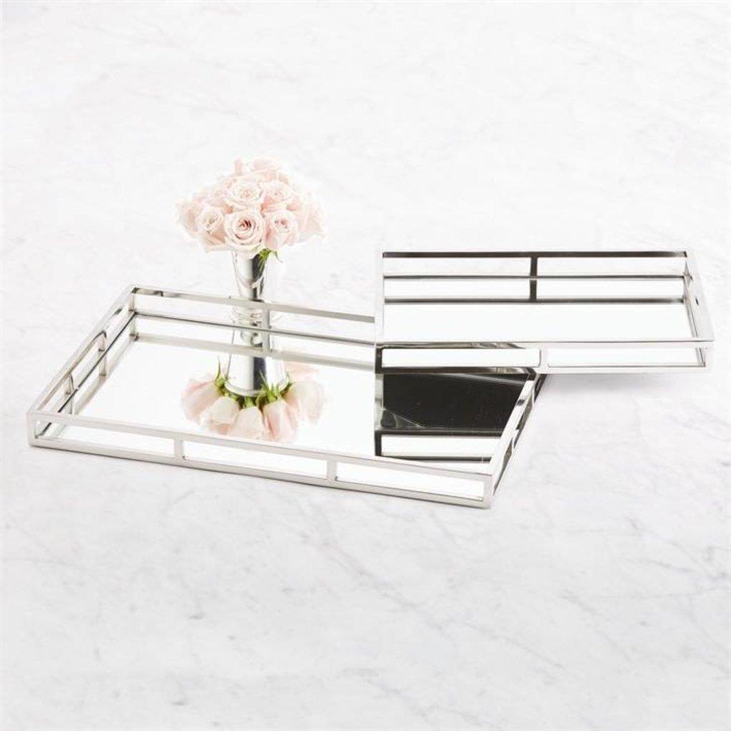 Rectangular Mirrored Tray -