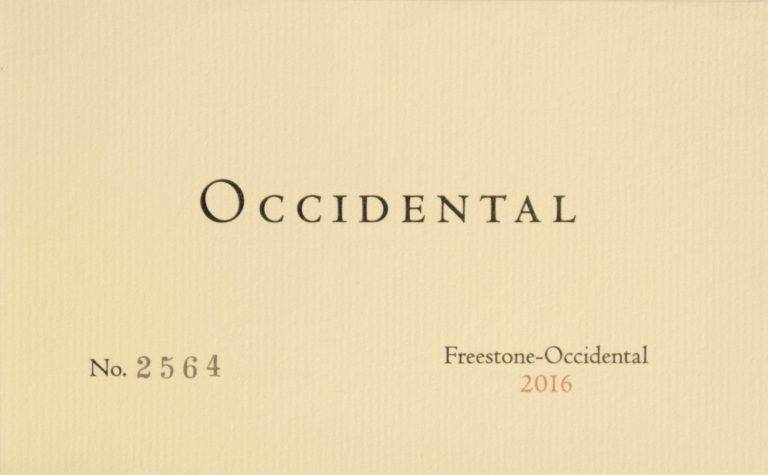 2016 Occidental Pinot Noir Freestone-Occidental (750ml)