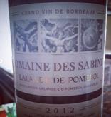 2012 Domaine des Sabines (750ml)