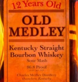Old Medley 12 yr Kentucky Straight Bourbon Whiskey (750ml)