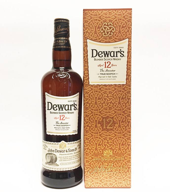 Dewar's Aged 12 yrs blended Scotch Whisky (750ml)