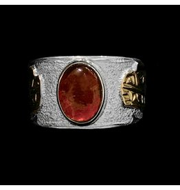 Gold, Silver and Ammolite Bear Ring