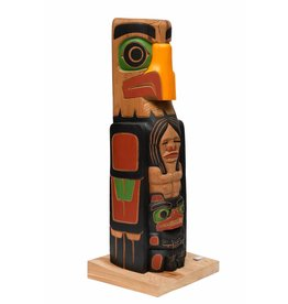 Small Eagle Totem Pole by Cody Mathias
