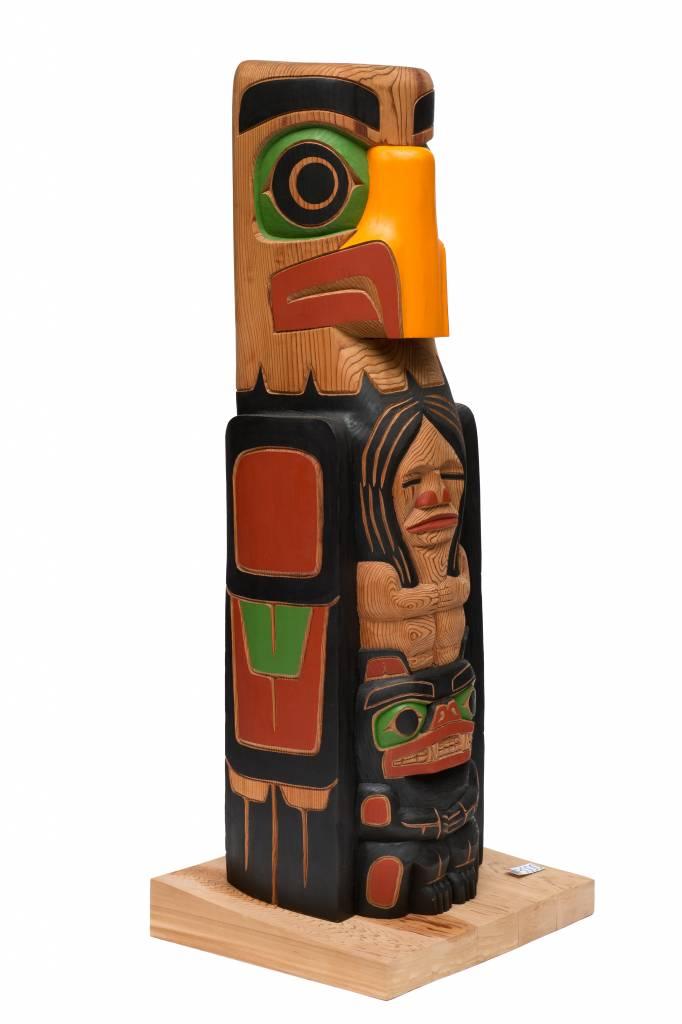 Small Eagle Totem Pole by Cody Mathias (Squamish / Coast Salish